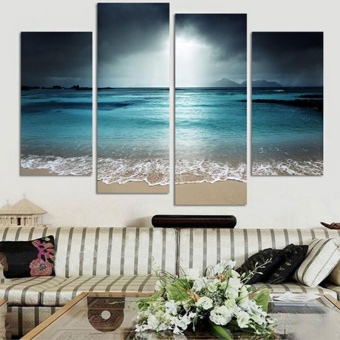 4Pcs/lot Modern Landscape Canvas Wall Print Oil Painting For Home Decor - intl