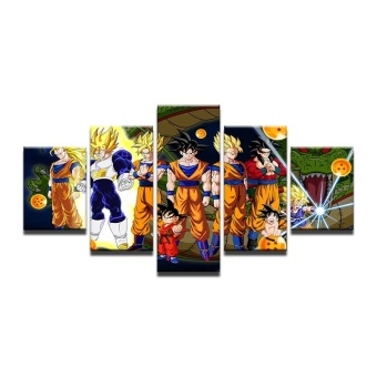 4X6inX2 4X8inX2 4X10inX1 Modular HD Painted Canvas Paintings Art Oil Painting Dragon Ball Home D cor Wall Decor pictures for Living Room Poster Atrwork (NO Frame) - intl