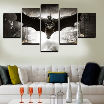 5 Panel No Framed Printed HD Movie Poster Batman Group PaintingLiving Room Bedroom Decor Canvas Art Pictures Gift Painting - 2