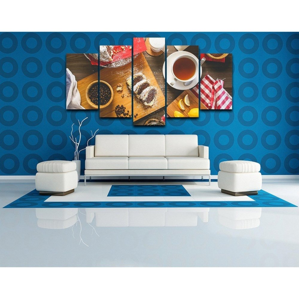 Philippines | 5 Panel Unframed Coffee Food Wall Canvas Paintings HD ...
