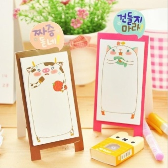 Home · Comebuy88 Fun Lovely Memo With Cover Bookmark Pad Stick Paste Memo Tab Sticky Notes