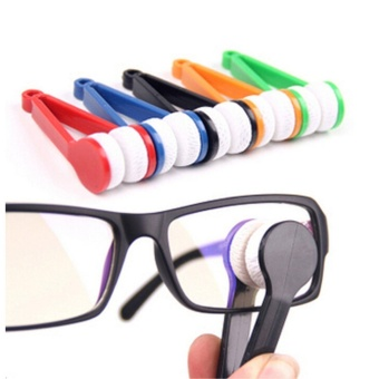 5 Pcs Mini Sun Glasses Eyeglass Microfiber Spectacles Cleaner SoftBrush Cleaning Tool Mini Microfiber Glasses Eyeglasses CleanerCleaning Clip (Random Color) - intl