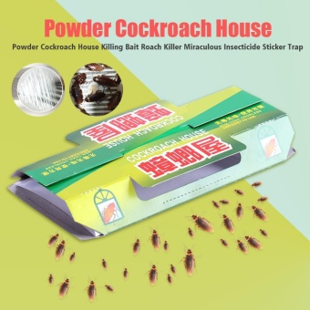 5 Pcs Powder Cockroach House Killing Bait Roach Killer Sticker Trap Insect Killers - intl