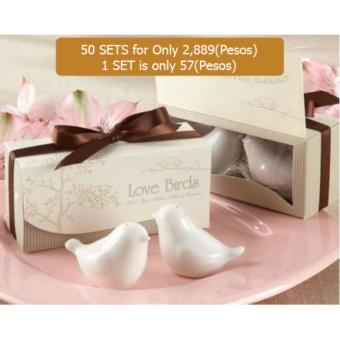 50 sets Dove salt pepper shaker wedding favor wedding party supplies wedding gifts for guests wedding souvenirs