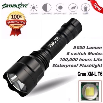 5000Lm C8 CREE XM-L T6 LED 18650 Flashlight 5 Mode Torch Tactical Light Lamp - intl