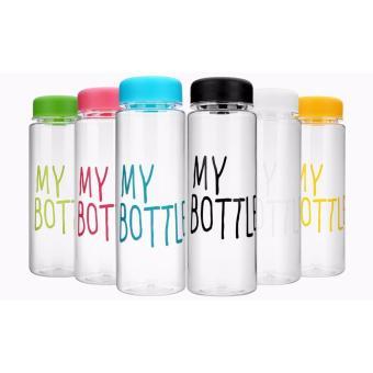 500ML My Bottle Sports Clear Plastic Fruit Juice Water Cup (Green) - 3