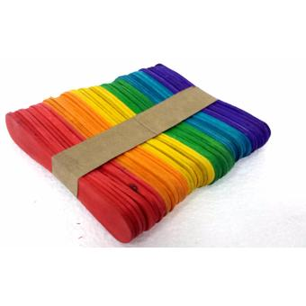 #501 D.I.Y Craft Wooden Popsicle Stick 50pcs Colored 9.5cm x 2cm