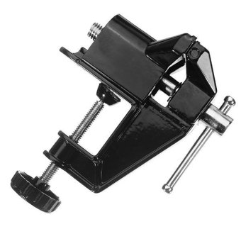 50mm Hobbyist Aluminium Alloy Table Clamp Bench Vise #0348 (Black)