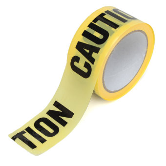 50mx5cm Roll Yellow Caution Tape Sticker Safety Barrier Police Construction Area (Intl) - 5
