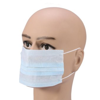 50PCS Dust-proof Non-woven Medical Disposable Ear Loop Face Mask(Blue) - intl - 4
