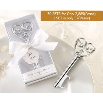 50pcs Key to my Heart Bottle opener wedding favors wedding accessories wedding souvenirs