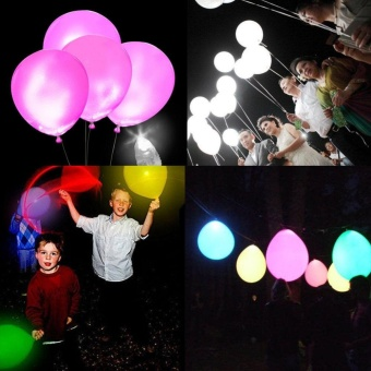 50Pcs Waterproof LED Lights for Paper Ballon Decor Colorful - intl