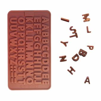 52 Holes 3D Letter DIY Silicone Chocolate Mold Kitchen Accessories Mould Cake Cooking Dessert Baking &