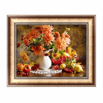 5D Diamond Painting Flowers Embroidery DIY Cross Stitch Crafts Home Wall Decor - intl - 4
