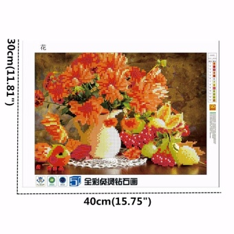 5D Diamond Painting Flowers Embroidery DIY Cross Stitch Crafts Home Wall Decor - intl