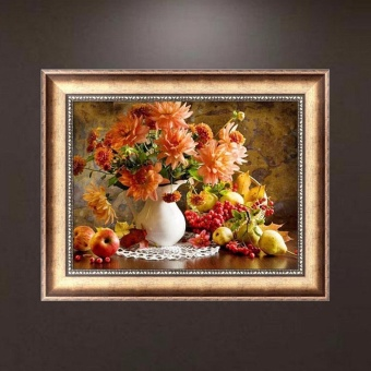 5D Diamond Painting Flowers Embroidery DIY Cross Stitch Crafts Home Wall Decor - intl - 3