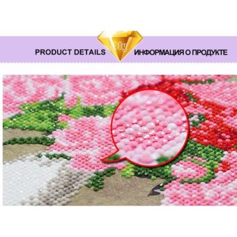 5D Diamond Painting Oly LA111-1 butterfly 35x35cm Round DIY Cross Stitch Crystal Wall Art Pictures Decorative Gift Full Diamond Embroidery giving - intl - 4