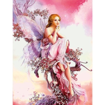 5D Fairy Butterfly Pattern DIY Diamond Embroidery Painting Cross Stitch Home Decor - intl