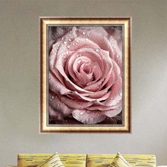 5D Rose DIY Diamond Embroidery Painting Flower Cross Stitch Home Decor Craft New - intl