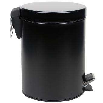 5L MATTE COATING PEDAL TRASH BIN - BLACK - 3
