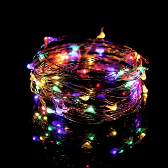 5M 50 Led USB connector String Fairy Lights Garland Copper Wire Multicolor - intl
