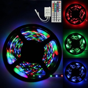 5M RGB 3528 300 Led SMD Flexible Light Strip Lamp+44 key IR Remote Controller - intl