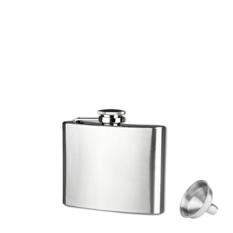 5Oz Stainless Steel Pocket Hip Flask Alcohol Whiskey LiquorScrewcap (Silver) - intl