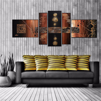 5Pcs Abstract Modern Wall Oil Painting On Art Canvas Picture Print No Frame - intl