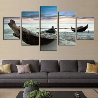 5PCS Large Ocean Ship Canvas Modern Home Decor Wall Art Oil Painting Picture - intl