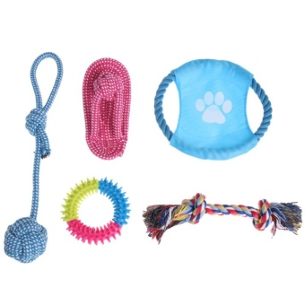 5pcs Puppy Dog Pets Chew Toys and Pet Rope Toy for Small to MediumDogs - intl
