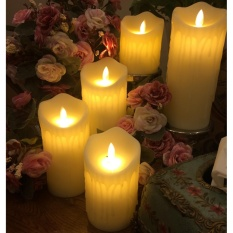 5Pcs/Lot Flameless Electrical Paraffin Wax Led Candle Light ForHotel, Wedding event, Home