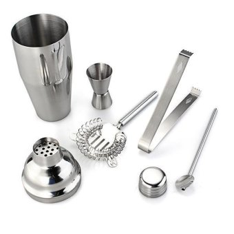 5pcs/Set Cocktail Shaker Stainless Steel Bartender Tools Kit MixerDrink Bar