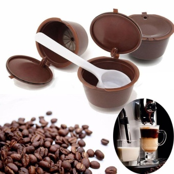 5x Reusable Capsule Pod Coffee Filter Cup Holder Machine for Nescafe Dolce Gusto - intl