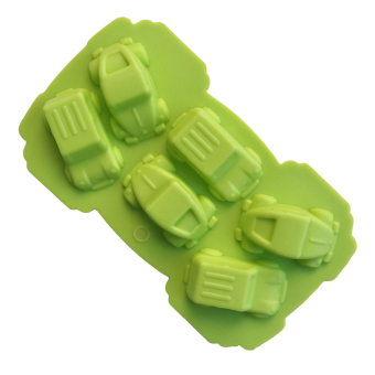 6 car DIY baking chocolate mold silicone cake mold (Green) (Intl) Price Philippines
