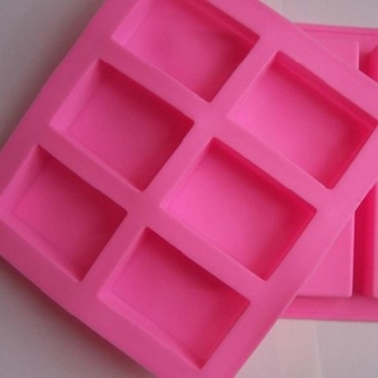 6-Cavity Plain Rectangle Soap Mold Silicone Mould Craft DIY Making Multi Color - intl Price Philippines