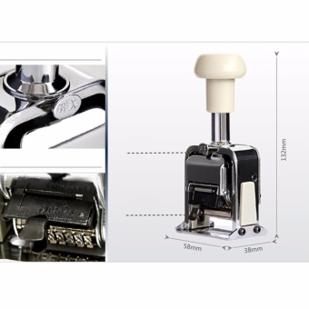 6-Digits Automatic Numbering Machine Self-Inking Stamp Marker, 6 Wheels (Silver) - intl - 4