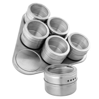 6 Jars Stainless Steel Triangle Magnetic Multipurpose Spice Rack,Perfect  Kitchen Storage   Intl ...