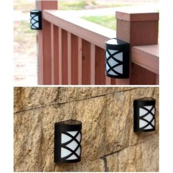 6 Pack Retro 6 LED Solar Powered Outdoor Path Light Yard Fence Gutter Garden Wall Lamp - intl - 5