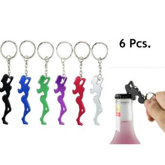 6 pcs. Beautiful Girl Aluminum Alloy Metal Creative Funny Cool Bottle Opener Wine Beer Keychain