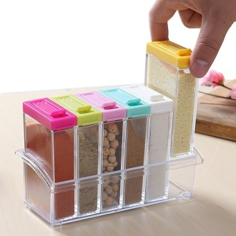 6 Pieces Set Portable High Quality Condiment Box - 3