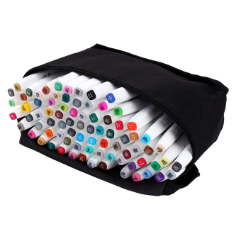 60 Colors Sets Touch Five Alcohol Graphic Art Twin Tip Pen Markers Broad Fine Point(Picea meyeri)
