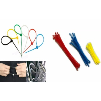 60 Pcs. Mixed Colors Nylon Plastic Cable Wire Zip Tie Cord Strap25g