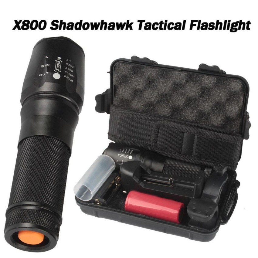 6000lm Genuine SHADOWHAWK X800 Tactical Flashlight LED Zoom Military Torch G700 - intl