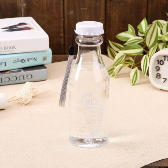600ML Portable Plastic Water Bottle Leak-proof Bottlesstyle:Transparent White - intl Price Philippines