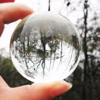 60mm Clear Round Glass Artificial Crystal Healing Ball Sphere Decoration - intl