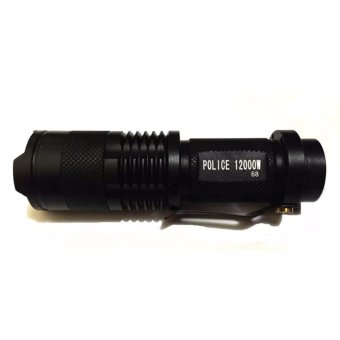 #68 Type Rechargeable Cree LED Flashlight Black