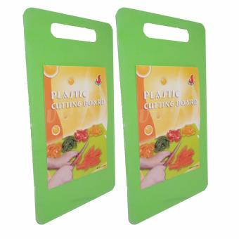 6806 Colored Plastic Chopping Board Green Set of 2
