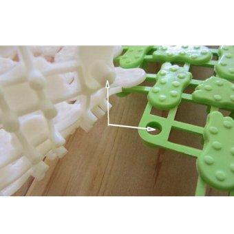 6pcs Jointed Anti-slip Bathroom Mat Assembled Feet Design(Multicolor) - 4