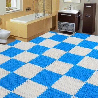 6pcs Jointed Anti-slip Bathroom Mat Assembled Feet Design(Multicolor) - 2