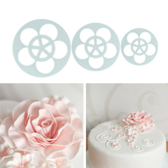 6Pcs Rose Flower Fondant Cake Chocolate DIY Mold Cutter Decorating Tools - picture 2